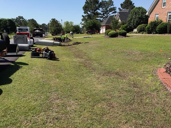 Baywood Drainage Fayetteville, NC - Baywood Drainage Job In Fayetteville, NC Fayetteville Landscaping