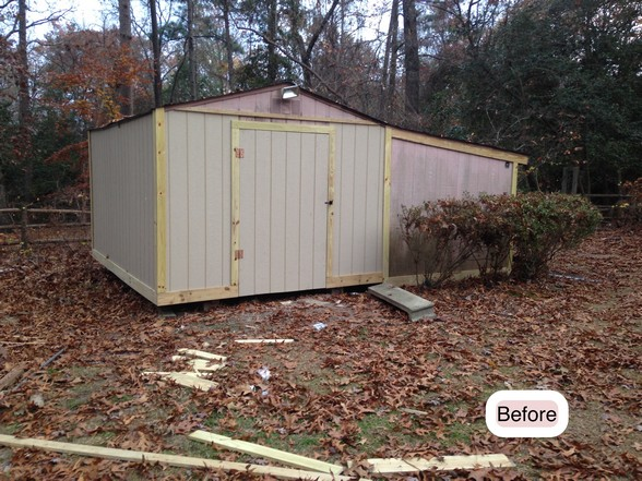 Shed Repair Project In Fayetteville Nc Fayetteville